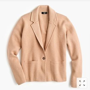 Jcrew cropped single button sweater blazer